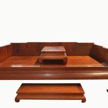 松鹤延年大红酸枝罗汉床家具雕刻精美罗汉床家具精选优质木料图片
