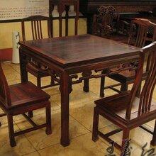 精品大红酸枝茶桌家具雕工精美休闲茶桌家具不开裂图片