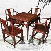 红木茶桌家具雕花艺术和谐新中式红木茶桌家具美感简约图片