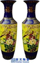 粉彩瓷花瓶雕龙陶瓷大花瓶