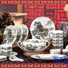 景德镇骨瓷餐具釉中彩餐具餐具生产订制餐具