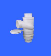 供应宝塑牌同层旋流三通PVC旋流三通PVC同层排水PVC管件图片