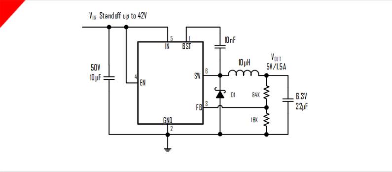 5a的异步降压转换器