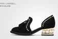 欧美时尚独特女鞋上班休闲都可以穿的高跟鞋
