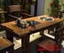 尚亿古典船木家具客厅茶桌椅组合古船木博古架酒柜厂家直销