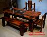 批发价销售老船木茶桌茶几餐桌办公桌椅尚亿船木家具厂