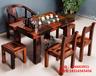 老船木茶几茶桌茶水椅组合批发石磨茶台简约现代茶几椅子整装特价