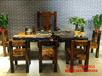 湖州老船木家具沙发餐桌船木茶几原生态茶台椅组合
