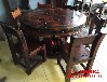 天津河东老船木茶桌椅组合批发客厅阳台小户型茶艺桌餐桌