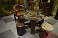 洛阳吉利老船木茶桌椅组合批发客厅阳台小户型茶艺桌简约石磨茶台茶几