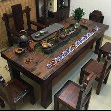 上海卢湾老船木个性茶桌实木家具批发船木茶台客厅茶几图片