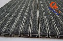 供应旋转门铝合金除尘地毯地垫、自动门厅嵌入式铝合金除尘地毯地垫、去污和吸湿刮沙图片
