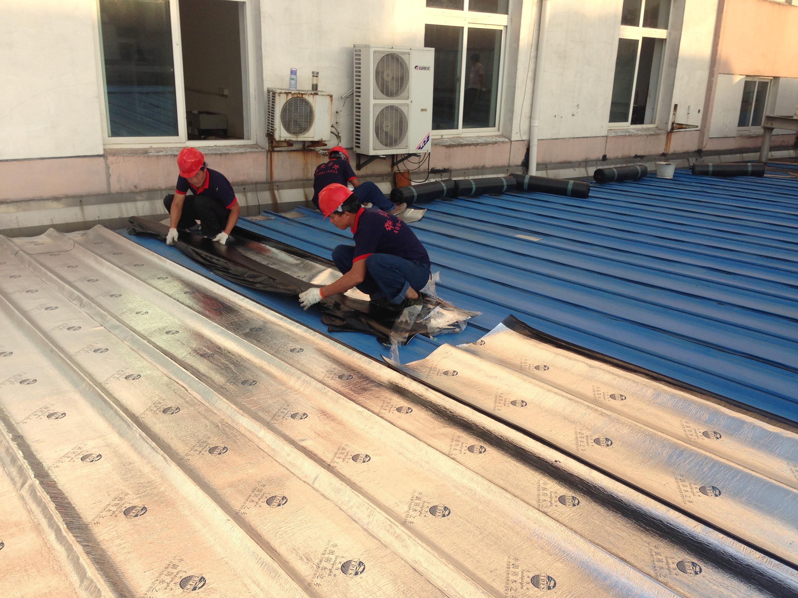 無錫房屋防水維修公司:彩鋼瓦房屋結構的防水維修/屋頂是平面帶有