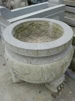 祠堂摆件石狮子,祠堂石材供台,石雕香炉图片