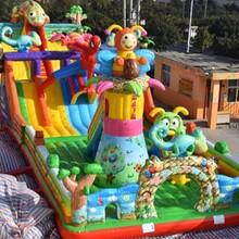 室外儿童娱乐大型充气玩具厂家儿童充气大滑梯城堡价格