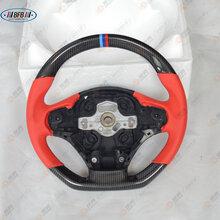 宝马改装碳纤维真皮反皮替换式方向盘320/328/420/428/新1-5系图片