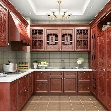 达森定制厨柜定制古典中式厨柜江西厨柜生产厂加