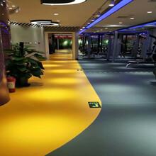 鹏辉运动地板健身房地板胶厂家图片