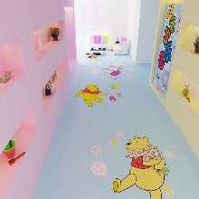 幼兒園pvc地板廠家兒童卡通塑膠地板顏色