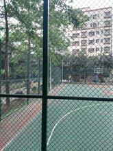 广东篮球场护栏网运动场围网安装pvc包塑勾花网