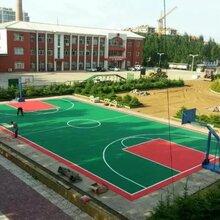 幼儿园拼装地板可拆迁式塑胶地板篮球场悬浮拼装地板图片