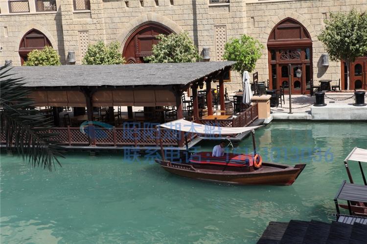 木船爆款景区木船单篷船中式小木船旅游木船电动小木船热卖-欧式小图片