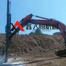挖改鉆機打石頭速度快