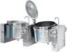 雙面聯體熬煮鍋廚房設備不銹鋼鍋鍋具湯鍋