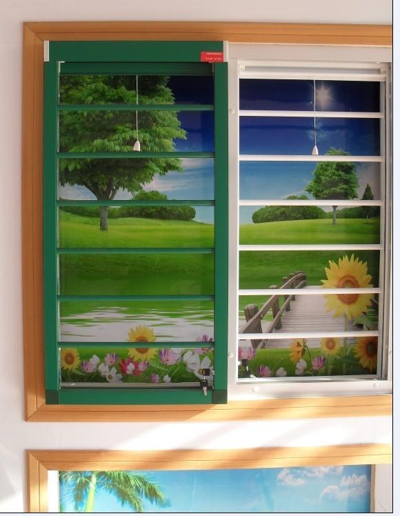 德州金蜜蜂专业生产批发隐形防盗纱窗金刚网纱窗