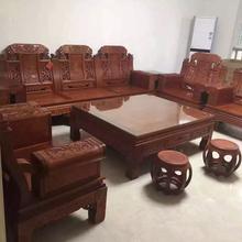 宏森古典餐桌椅,成都优质藏式红木家具优质服务图片