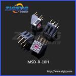 MSDR-16H1档旋转编码开关韩国sungmun旋转拨码开关MiniRotaryDipswitch图片
