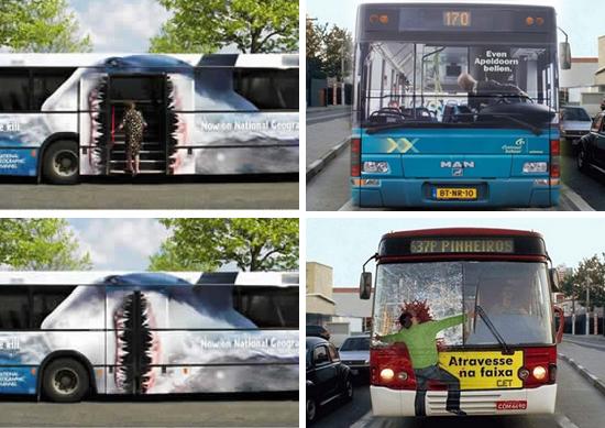 广告设计制作 其它广告设计制作 03 公交车车身创意广告喷绘   公交