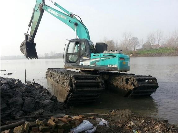 重庆-水上挖掘机出租-专业河道清淤-专业施工团队