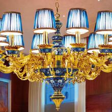 供应高端奢侈品景泰蓝灯饰《世界风情》景泰蓝吊灯