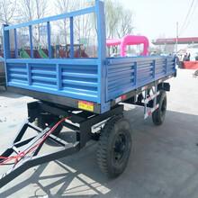 拖拉机运输车拖斗平板有车农用运输车图片