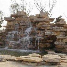 基地供应大量假山石料灵璧景观石园林刻字石千层岩大中小型假山制作