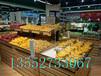 专用水果展示架子钢木结合双层带柜蔬果收纳架子原木水果批发网