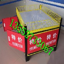 超市貨架促銷臺紅色單層促銷展示臺超市專用促銷臺子棕色特價展示臺圖片