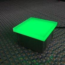 LED地砖灯圆形直径100mm广场地面楼梯台阶图片