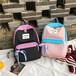 厂家定做书包中学生男女背包儿童减负双肩旅行背包