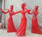 玻璃钢抽象人物吹拉弹唱音乐人物雕塑仕女雕塑酒店雕塑