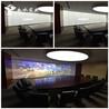 雾化玻璃变色玻璃通电透明玻璃可做办公室投影屏幕