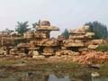 产地批发大中小型园林石刻字石承接假山设计与施工图片