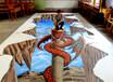 云南震撼3D立体画3D海洋馆墙画3D海报3D广告