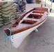 一头尖欧式船景观装饰船手工实木制作