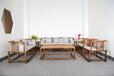 胡桃木东方实木沙发七件套组合经济型木质沙发客厅简约新中式家具