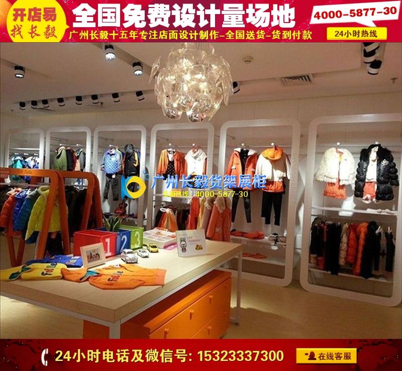 韩国小童装店装修效果图个性孕母婴童装店装修设计童鞋店设计童装展柜