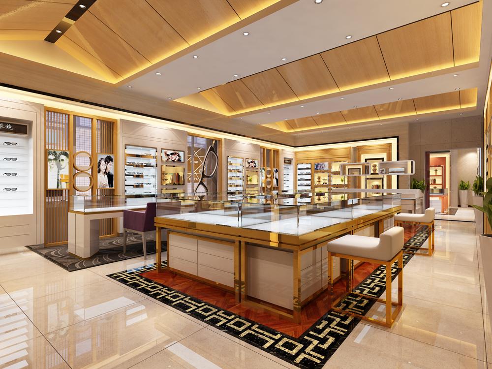 眼镜店装修,展柜设计,眼镜店装修效果图,药店装修相关图片