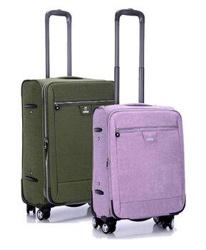 廠家定做新款萬向輪出差滌綸拉桿箱上海訂制行李箱fz0215可加logo