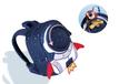 上海方振箱包工厂生产防走失包1-3岁男女童卡通背包3d火箭双肩包儿童幼儿园书包